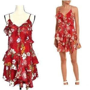 Parker NYC Red Sangria Holly Mini Dress